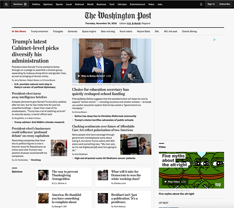 Washington Post Progressive Web App